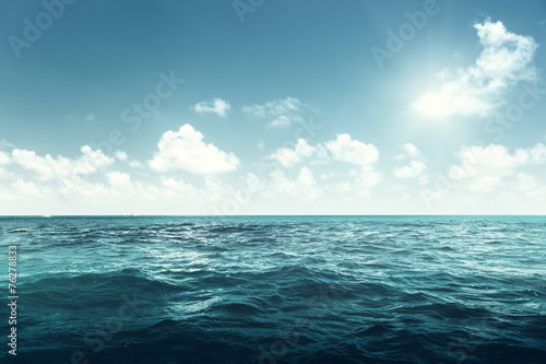 Spoed Foto op Canvas Water perfect sky and ocean