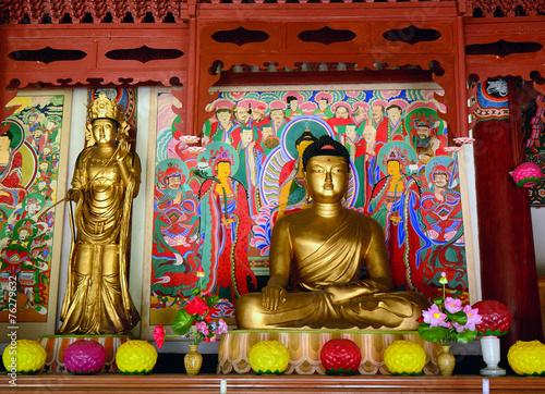Tuinposter Boeddha Pohyon Buddhist temple, North-Korea