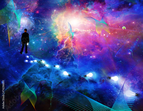 Fotografia Man considering the expanse of space