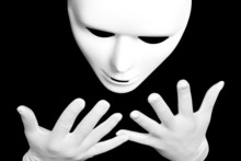 White Theatrical Mask