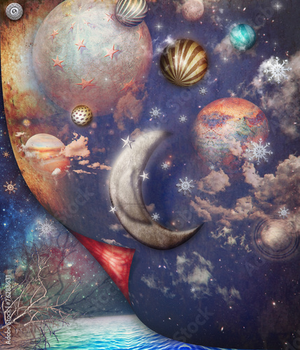 Canvas Prints Imagination Dark galaxy