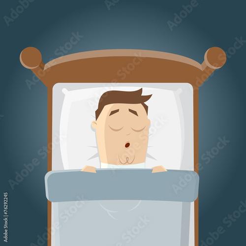 Schlafen Traumen Cartoon Lustig Bett Buy This Stock Vector And