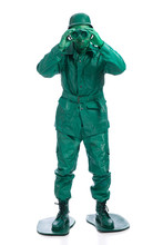 Man On A Green Toy Soldier Cos...
