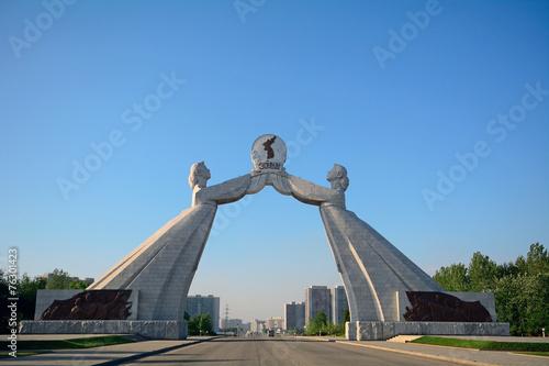 Fotografie, Obraz  Sjednocení Monument, Pchjongjang, Severní Korea