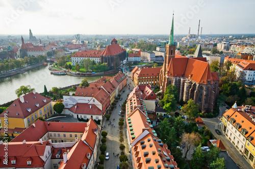 ostrow-tumski-z-wiezy-katedralnej-wroclaw-polska