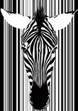 Fototapeta Zebra - Zebra Barcode Face