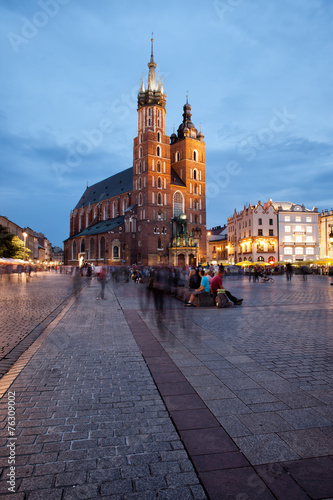 St Mary Basilica in Old Town of Krakow #76309002