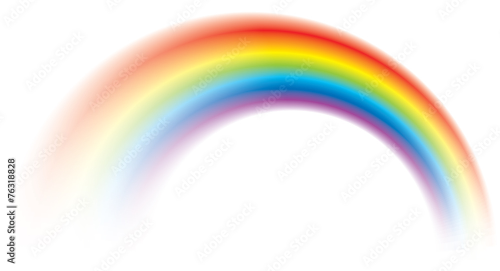 Fototapety, obrazy: Vivid vector colorful rainbow shining blurred