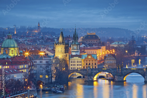 City on the water Prague.