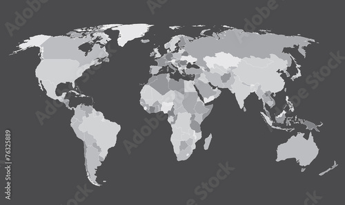 World map countries white outline gray eps10 vector buy this stock world map countries white outline gray eps10 vector gumiabroncs Choice Image