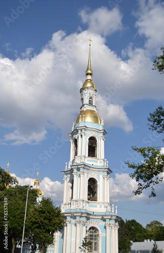 Spoed Foto op Canvas Bedehuis St. Nicholas Naval Cathedral, St. Petersburg.