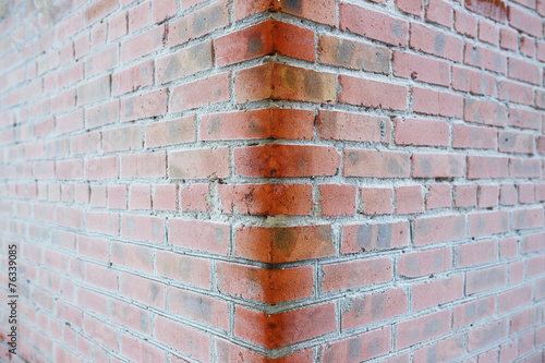 Fotografia, Obraz  Snow Covered Brick Wall closeup