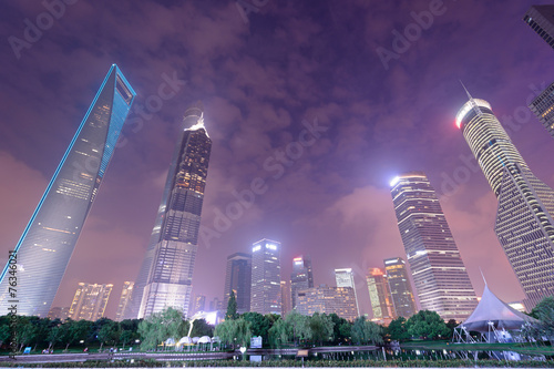 Photo  High-rises in Shanghai's new Pudong banking and business distric