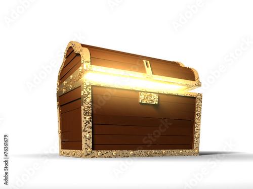 Fotografie, Obraz  3d: Glowing Treasure Chest