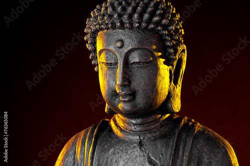 Obraz na plátně  Tmavý postava Buddha