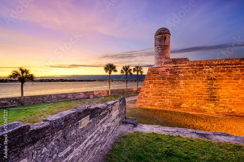 St. Augustine, Florida, USA at Castillo de San Marcos Monument Canvas-taulu