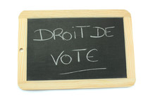 Ardoise Droit De Vote