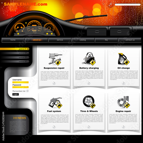 automobile service website template buy this stock vector and explore similar vectors at adobe. Black Bedroom Furniture Sets. Home Design Ideas
