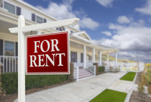 For Rent Real Estate Sign In F...