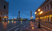 Piazza San Marco At Night In W...