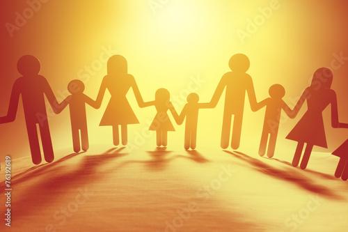Fototapety, obrazy: Family holding hands