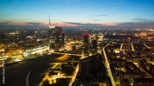 In de dag Milan Panoramica di Milano da 120 metri di altezza