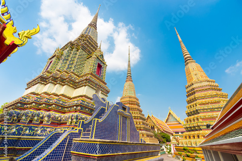 Pagodas of Wat Pho temple in Bangkok, Thailand Wallpaper Mural