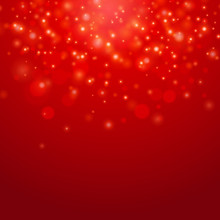Red Vector  Bokeh Background