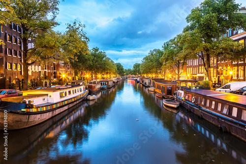 Canvas Prints Amsterdam Amsterdam at night