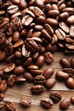 Fototapeta Kuchnia - Coffee beans, close-up