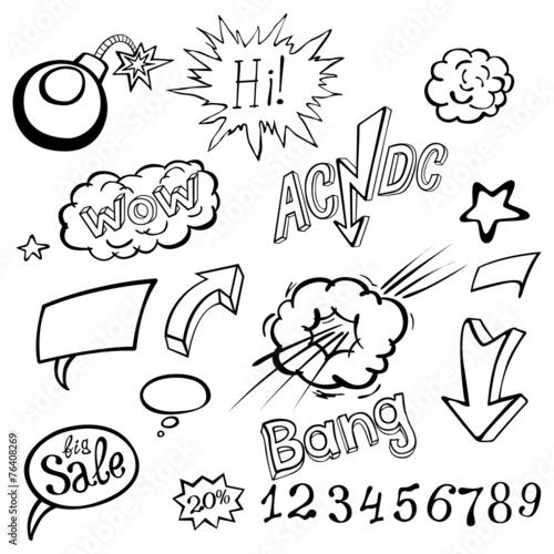 Photo  Bomb explosion comic style templates. Vector illustration