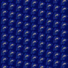 Sharks Pattern On Blue Black B...