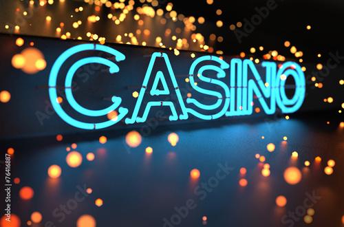 Fotografie, Obraz  Neon kasino znamení