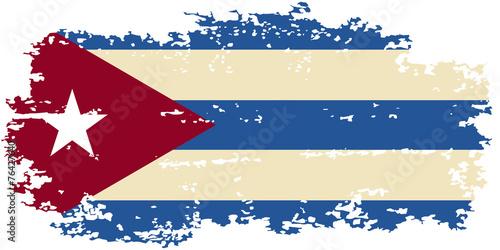 Cuban grunge flag. Vector illustration. Canvas Print