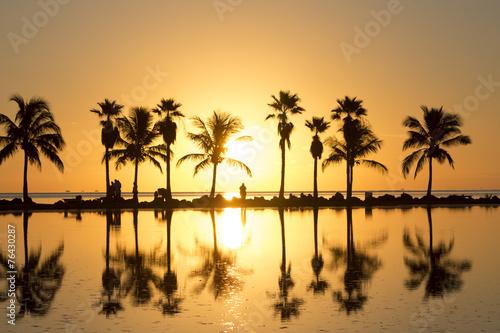 Foto op Aluminium Strand Sunrise in Miami