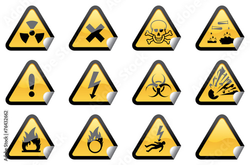 Fotografie, Obraz  Hazardous Stickers