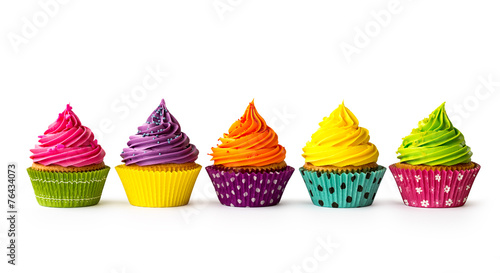 Photo  Colorful cupcakes