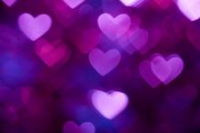 Dark Blue Heart Shape Holiday Background