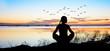 canvas print picture - espiritualidad en el lago