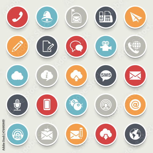 Fotografía  Communication icons.