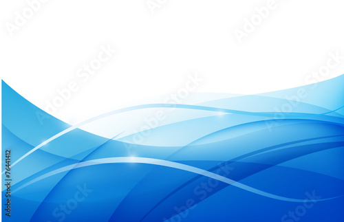 Vector Abstract Blue Wavy Water Background Wallpaper Buy