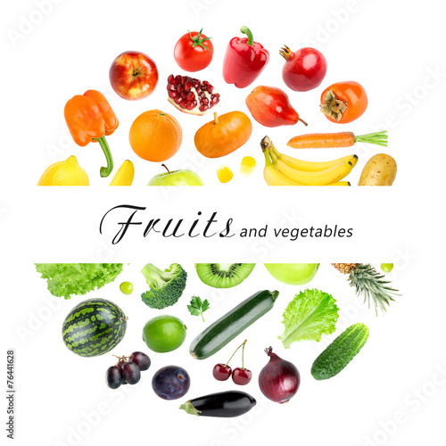 Poster Fruit Collection of fruits and vegetables