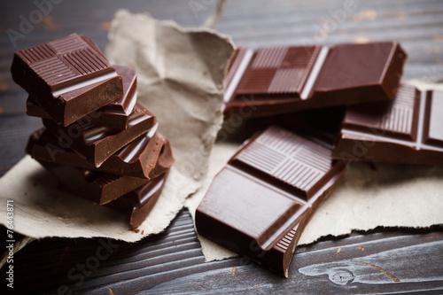 Fotografie, Obraz  Čokoláda s rustikálním papírem