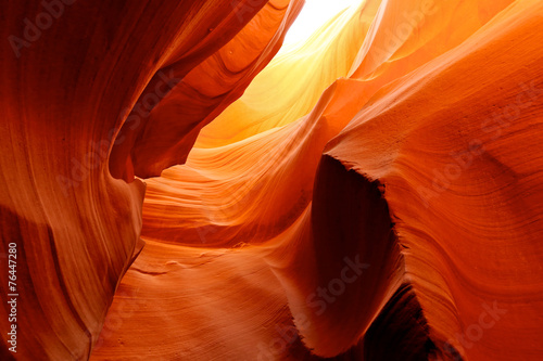 obraz lub plakat Fire in the Cave at Lower Antelope Canyon