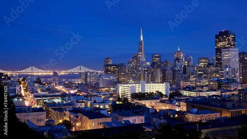 Foto op Canvas Texas San Francisco Skyline at Night
