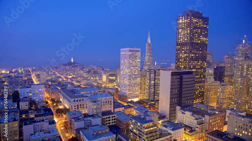 Canvas Prints San Francisco San Francisco Skyline at Night