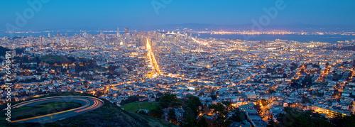 Photo sur Toile San Francisco San Francisco Cityscape at Night