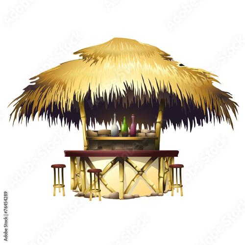 Fotomural Tropical bungalow bar