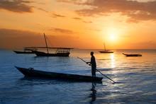 Traditional Boat On Zanzibar C...