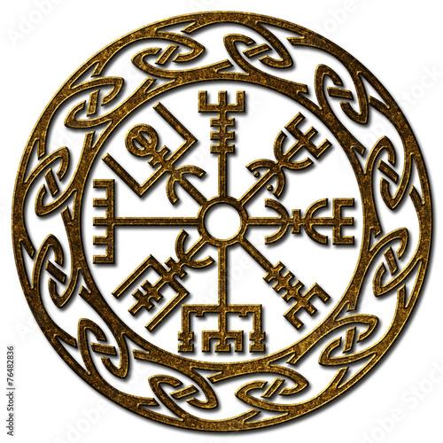 Photo  Vegvísir, Icelandic Sign, Viking Compass